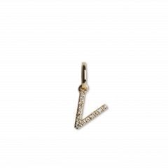 Letter Pendant with Diamonds